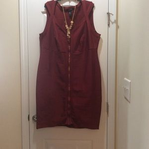 Ashley Stewart Dresses - Ashley Stewart Brick Color Bandage Dress